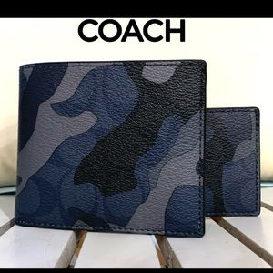 NWT! Authentic Coach Men's Camo 3 In 1 Wallet